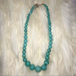 Jewelry - Turquoise Marble Beaded Necklace